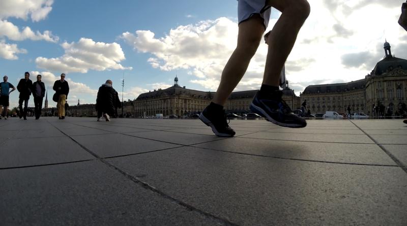 Bordeaux, running sur le Miroir d'Eau