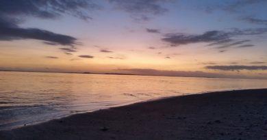 La Réunion, running nocturne sur la plage de l'Ermitage