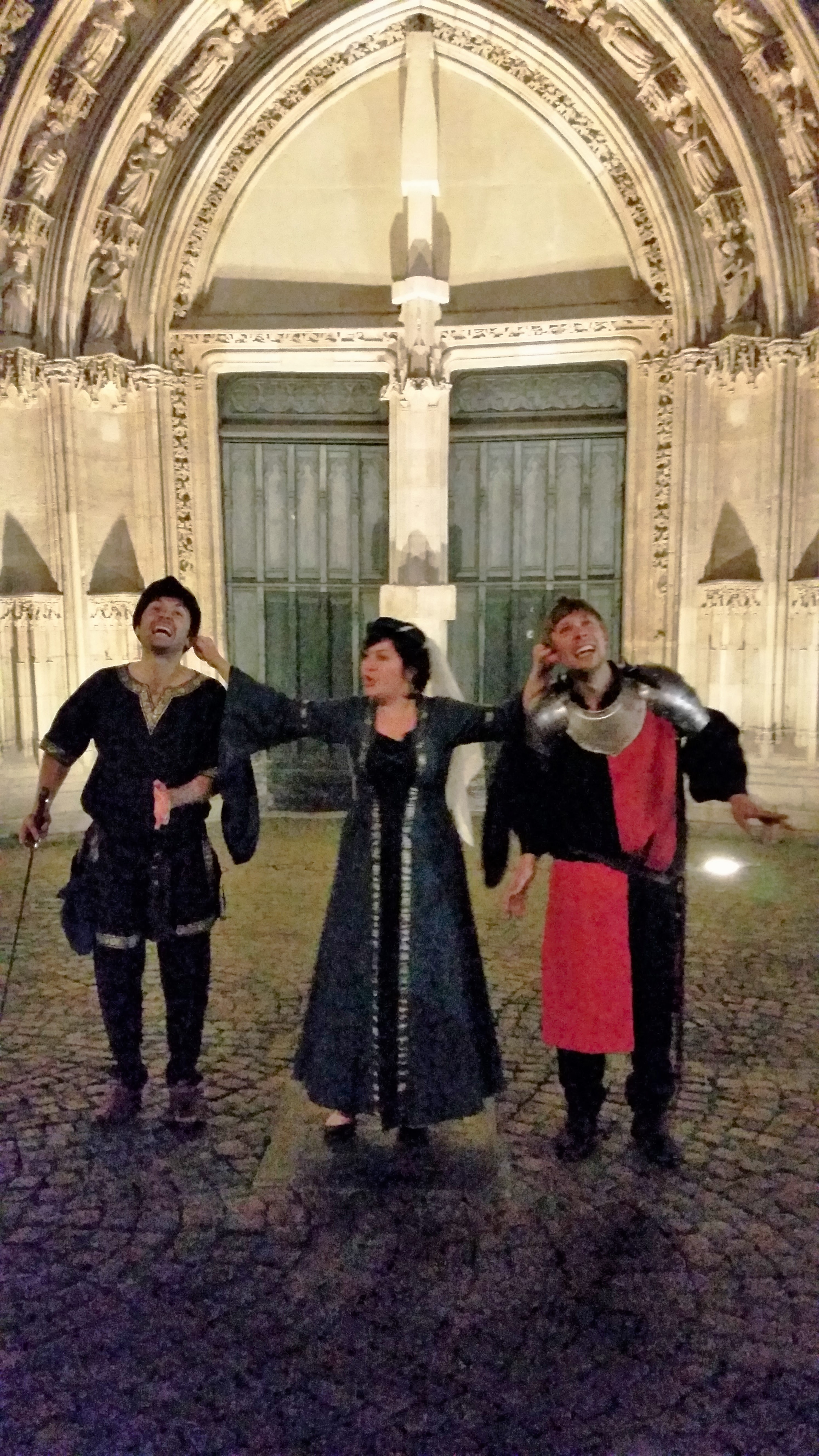 Les 3 acteurs de la visite de Bordeaux by night !